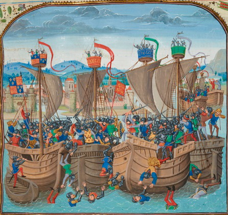 The Battle of Sluys. A miniature from the Chronicles by Jean Froissart. XV century| / Hobby Keeper Articles