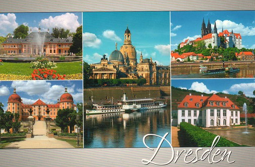 "Postcard ""Castles of Dresden"" 