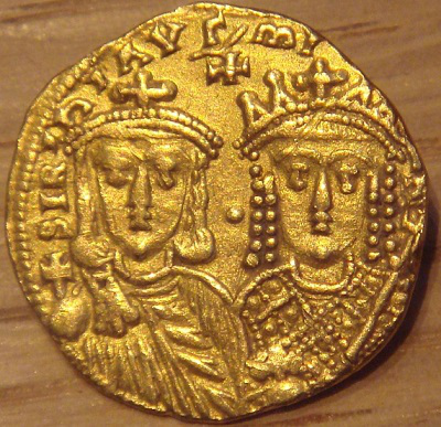 Golden solid, which depicts Irina with her son | Hobby Keeper Articles