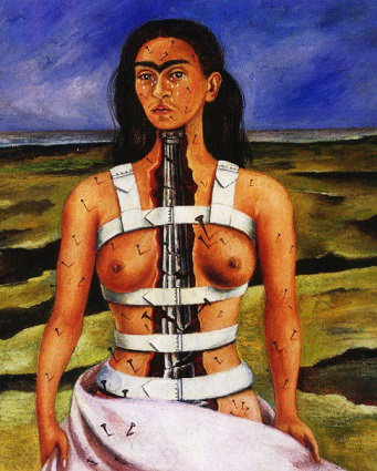 """Painting """"Broken column"""" by Frida Kahlo 