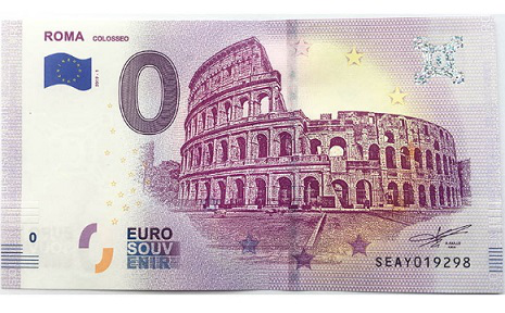 0 Euro bill with the image of the Colosseum on the obverse, 2019, Italy | Hobby Keeper Articles