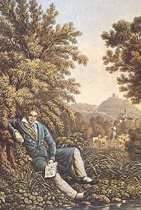 A painting of Beethoven on the nature | Hobby Keeper Articles