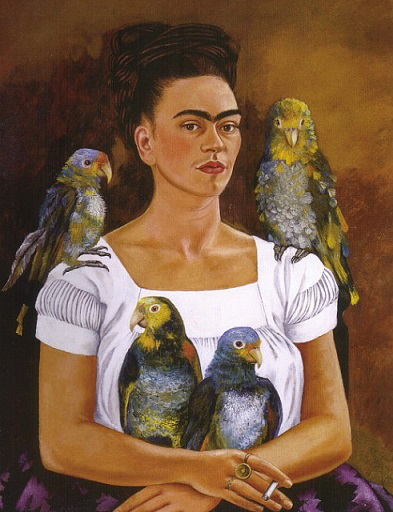 """Painting """"Me and my parrots"""" 