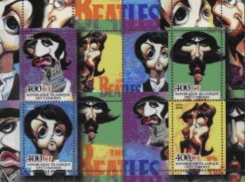 The brand with the band 'The Beatles' Comoros   Hobby Keeper Articles
