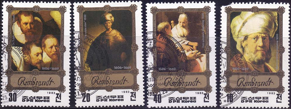 Stamps Korea with the works of Rembrandt   Hobby Keeper Articles