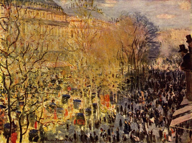 "Picture of Monet's ""Boulevard des Capucines in Paris"" 
