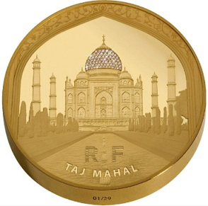 5000 Euro gold coin on the reverse of the Taj Mahal, France, 2010 | Hobby Keeper Articles