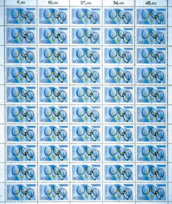 Mailing list of 50 stamps dedicated to the 1980 Olympic Games | Hobby Keeper Articles